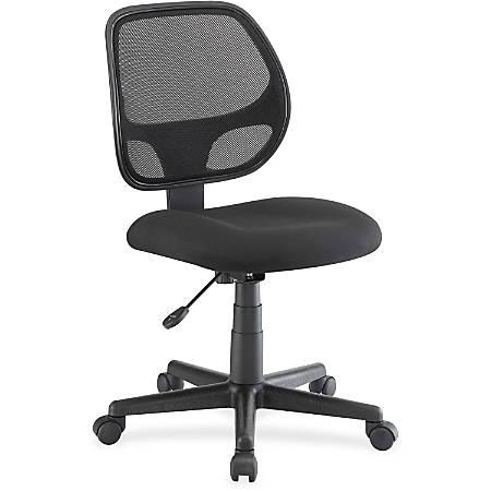 Lorell® Multi-Task Mesh/Fabric Chair, Black