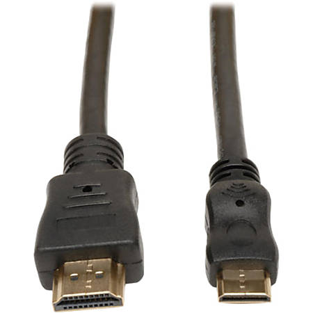 Tripp Lite 6ft HDMI to Mini HDMI Cable with Ethernet Digital Video / Audio Adapter Converter M/M - HDMI for Audio/Video Device, Camera, Camcorder, TV - 6 ft - 1 x HDMI Male Digital Audio/Video - 1 x HDMI (Mini Type C) Male Digital Audio/Video
