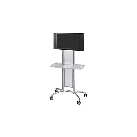 "Impromptu® Flat Panel TV Cart, 65 1/2""H x 38""W x 20""D, Silver"