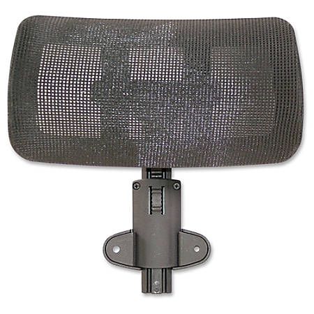 Lorell® Multifunction Mesh High-Back Headrest, Black