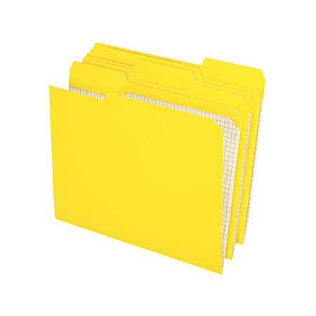 Pendaflex color reinforced top file folders with interior grid 13 cut legal size yellow pack of for Pendaflex interior file folders