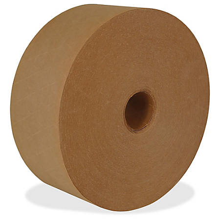 "ipg Medium Duty Water-activated Tape - 3"" Width x 150 yd Length - Medium Duty, Tamper Evident, Durable - 10 / Carton - Natural"