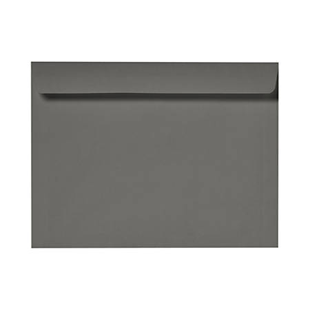 "LUX Booklet Envelopes With Moisture Closure, 6"" x 9"", Smoke Gray, Pack Of 50"