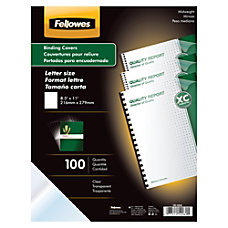 Fellowes Clear Presentation Binding Covers 8