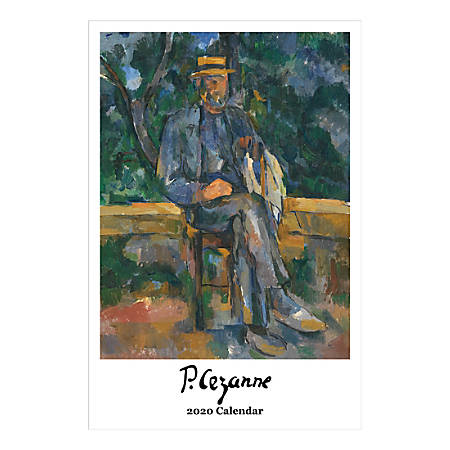 "Retrospect Cezanne Monthly Wall Calendar, 19"" X 12-1/2"", January To December 2020, YC 012-20"