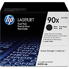 HP 90X Black Original Toner Cartridges