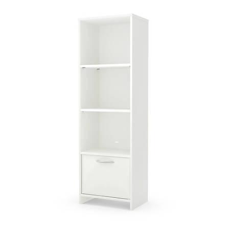 South Shore Step One 3-Shelf Bookcase, Pure White