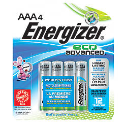 Energizer Eco Advanced AAA Alkaline Batteries