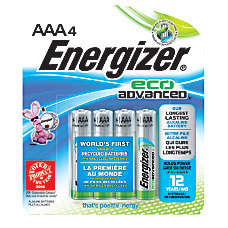 Energizer Eco Advanced AAA Alkaline Batteries