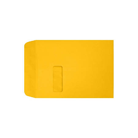 "LUX Open-End Window Envelopes With Peel & Press Closure, #9 1/2, 9"" x 12"", Sunflower, Pack Of 1,000"