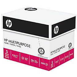 HP Multipurpose Paper Letter Paper Size
