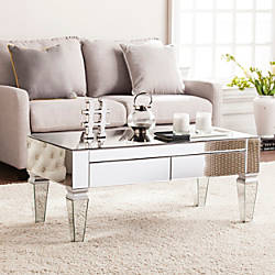 Southern Enterprises Darien Contemporary Mirrored Cocktail