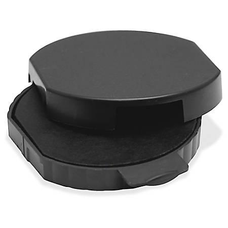 "Trodat Custom Dater Replacment Ink Pad - 1 Each - 1.8"" Diameter - Black Ink - Plastic"