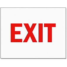 Tarifold Magneto Safety Sign Inserts Exit