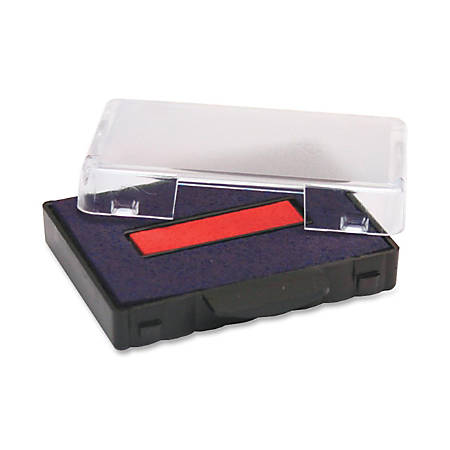 Trodat T5444 Replacement Ink Pad - 1 Each - Blue, Red Ink - Plastic