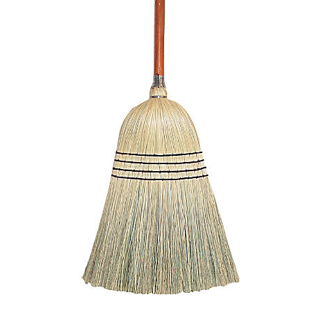 "Wilen Clean Sweep Fan Maid Blend Broom, 54"" x 11"", Natural"