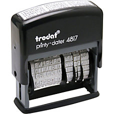 Trodat Economy 12 Message Date Stamp