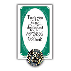 30 Years Of Service Lapel Pin