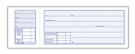 adams money receipt book 2 34 x 7 1516 1 part white 50 receipts per