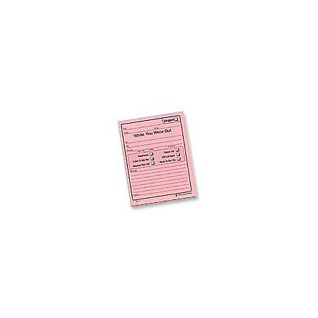 "Adams® ""While You Were Out"" Message Pads, 4 1/4"" x 5 1/2"", 50 Sheets, Pink, Pack Of 24"