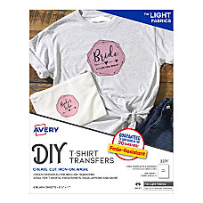 Avery Light Fabric T Shirt Transfers