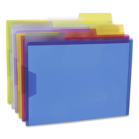 """Pendaflex® Poly View Folders, 1"""" Expansion, Letter Size, Assorted Colors, Pack Of 6 Folders"""
