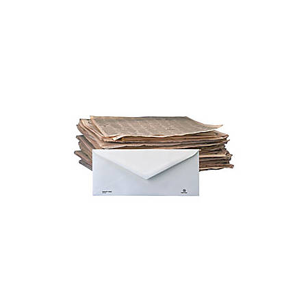 """Stride, Inc.® 100% Recycled Business Envelopes, #10, 4 1/8"""" x 9 1/2"""", White, Regular Gum Adhesive Seal, Box Of 500"""