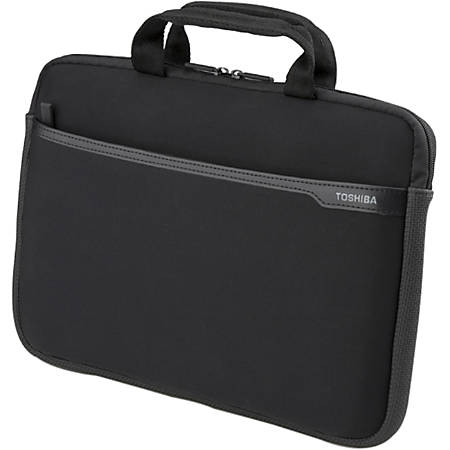 """Toshiba PA1502U-1SN3 Carrying Case for 13.3"""" Notebook - Black - Water Resistant - Neoprene - Handle - 9"""" Height x 13.3"""" Width x 1"""" Depth"""