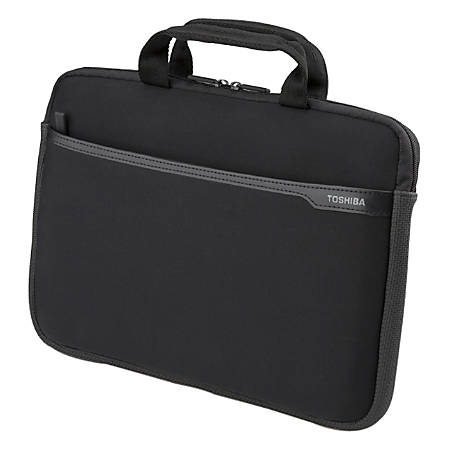 Toshiba 13.3' Business Topload Notebook Laptop Bag Carry Case Black Colour Smooth Carry Handles Shoulder Str