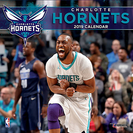 "Turner Sports Monthly Wall Calendar, 12"" x 12"", Charlotte Hornets, January to December 2019"