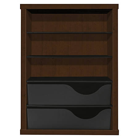 HON Vertical Paper Manager - 3 Compartment(s) - 2 Drawer(s) - Desktop - Recycled - Mocha - 1Each