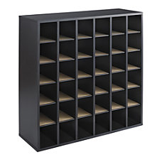 Safco Wood Mail Sorter 36 Compartments