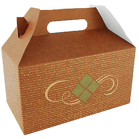 """Southern Champion Tray Hearthstone Carry-Out Barn Boxes, 9-1/2""""H x 5""""W x 5""""D, Brown, Pack Of 125 Boxes"""