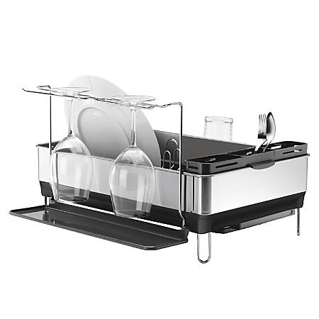 simplehuman® Steel Frame Dish Rack, Grey