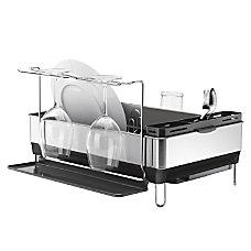 simplehuman Steel Frame Dish Rack Grey