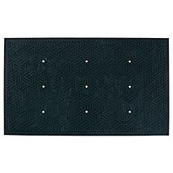 "M + A Matting SuperScrape Plus Floor Mat With Holes, 24"" x 36"", Black"