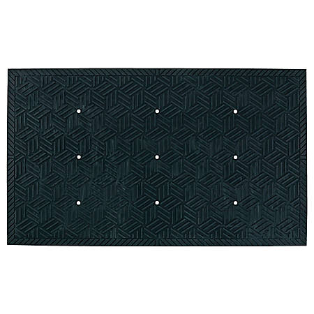 "The Andersen Company SuperScrape Plus Floor Mat With Holes, 24"" x 36"", Black"