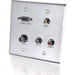 C2G Audio Video Faceplate