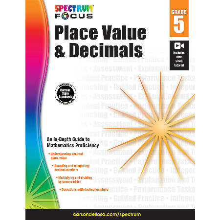 Spectrum Place Value And Decimals Workbook, Grade 5