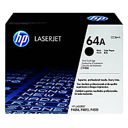 HP 64A Black Toner Cartridge CC364A