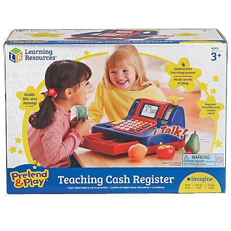 "Learning Resources® Pretend & Play® Teaching Cash Register, 8""H x 9 1/2""W x 13""D, Grades Pre-K - 1"