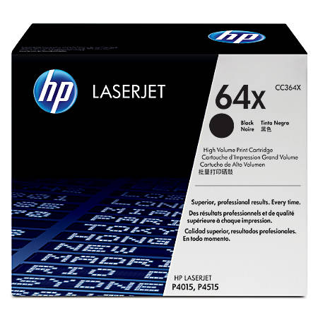 HP 64X, Black Original Toner Cartridge (CC364X)
