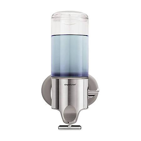 simplehuman® Wall-Mounted Single Pump Dispenser, Stainless Steel