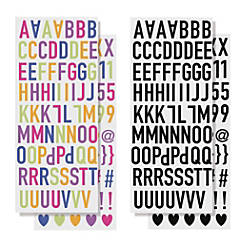 Divoga Sticker Sheets Bold Letters Assorted