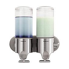 simplehuman Twin Wall Mount Soap Pumps