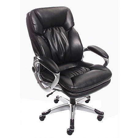 realspace big tall heavy duty series high back bonded leather chair