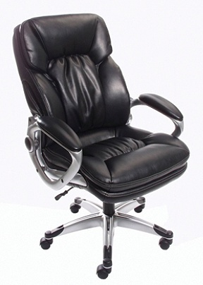 Reale Tall Heavy Duty Series High Back Bonded Leather Chair Black By Office Depot Officemax