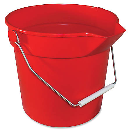 "Impact Products 10-qt Deluxe Bucket - 10 quart - 10.3"" x 10.6"" - Polypropylene - Red"
