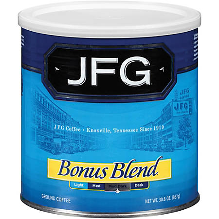 New England JFG Bonus Blend Coffee, 30.6 Oz Can