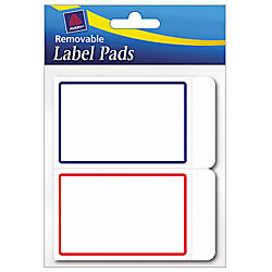 avery removable adhesive label pad 2 x 3 assorted borders pack of 80
